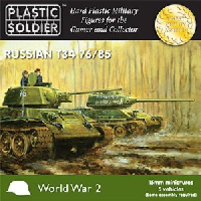 WW2V15001 - Russian T-34 76/85 Tanks 15mm