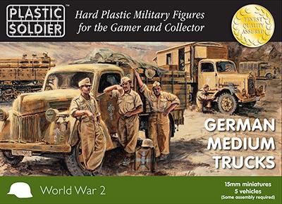 WW2V15026 - German Medium Trucks 15mm