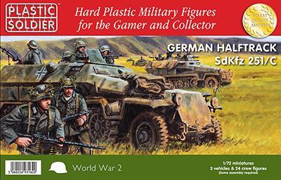 WW2V20003 - Sd.kfz.251 Ausf.C Halftrack with Variants Kit 1/72