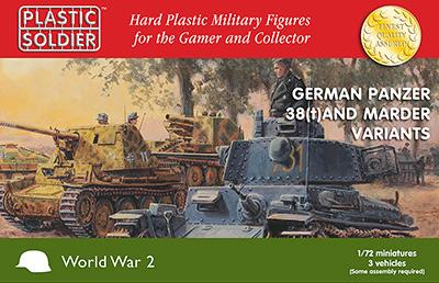 WW2V20019 - Pz.Kpfw. 38(T) and Marder options 1/72