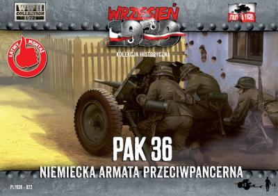 WWH022 - 3,7cm PaK 36 German anti tank gun with crew 1/72
