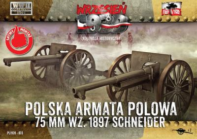 WWH033 - Polish Field Cannon 75mm Schneider (2 in a box) 1/72