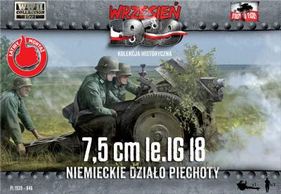 WWH046 - LiG 18 German Infantry Gun on DS wheels 1/72