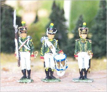 JS72/0293 - Jeune Garde Flanqueurs Chasseurs Commandement 1/72