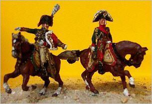 JS72/0202 - Bessière et un colonel des chasseurs de la Garde 1/72