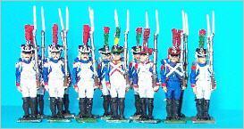 JS72/0247 - Fusiliers-Grenadiers moyenne garde en grand uniforme arme à l'épaule 1/72