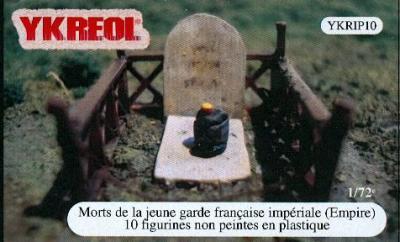YKRIP10 - Morts de la jeune garde française impériale Empire 1/72