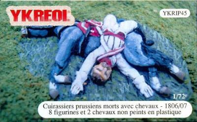 YKRIP45 - Cuirassiers prussiens morts avec chevaux - 1806/07 1/72