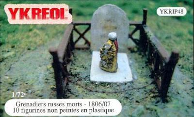 YKRIP48 - Grenadiers russes morts - 1806/07 1/72