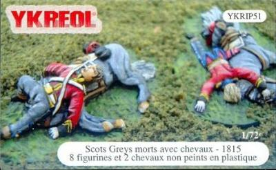 YKRIP51 - Scots greys morts avec chevaux - 1815 1/72