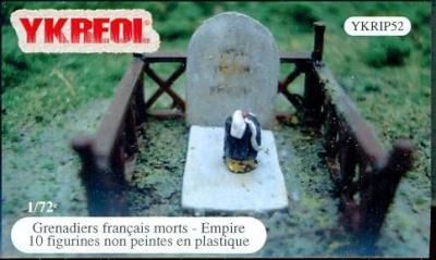 YKRIP52 - Grenadiers français morts (Empire) 1/72