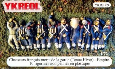 YKRIP69 - Chasseurs français morts de la garde (Tenue Hiver) - Empire 1/72