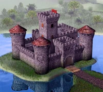 8512 Medieval Stone Castle 1/72
