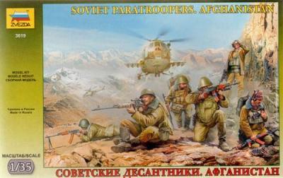3619 - Soviet Paratroops Afghanistan 1/35