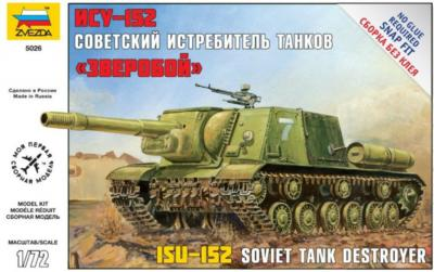 5026 - Self Propelled Gun Russian ISU-152 1/72