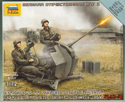 6117 - German 20mm Anti-Aircraft Gun with Crew 1/72