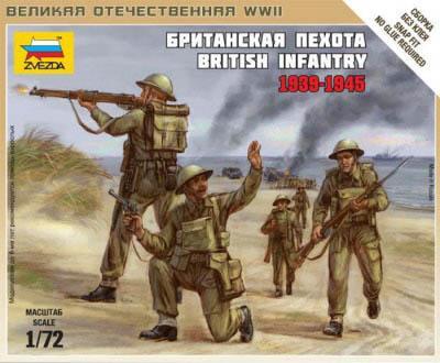 6166 - British Infantry 1/72