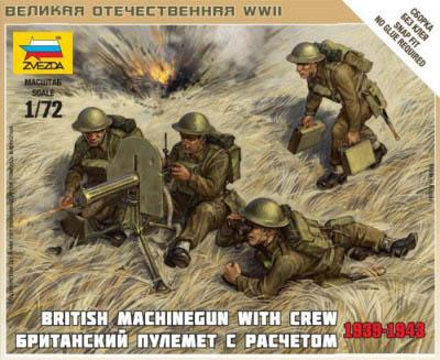 6167 - British Machine Gun Crew 1/72