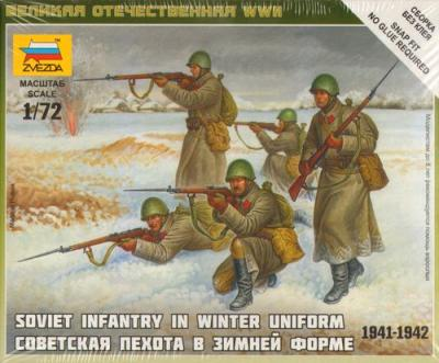 6197 - Soviet Infantry in Winter Uniform 1/72
