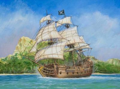 6514 - Black Swan Pirate Ship 1/350