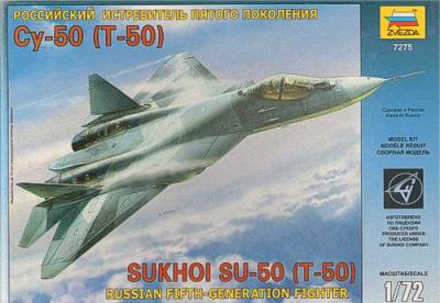 7275 - Sukhoi T-50 Russian Stealth Fighter 1/72