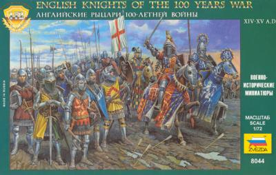 8044 - English Knights of the 100 Years War 1/72
