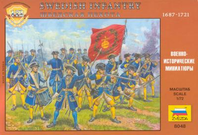 8048 - Infanterie suédoise Grande guerre du Nord 1/72