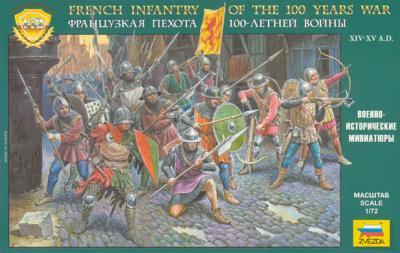 8053 - Infanterie française Guerre de Cent ans 1/72