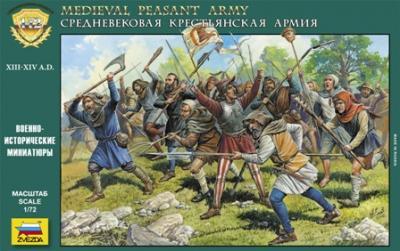 8059 Medieval Peasant Army 1/72