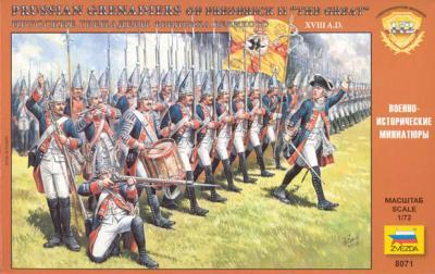 8071 - Infanterie prussienne de Frédéric le Grand 1/72