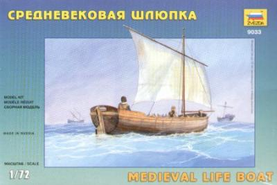 9033 - Medieval Life Boat 1/72