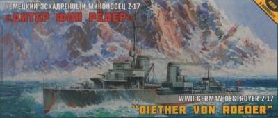 9043 - German Destroyer Z-17 Diether v Roeder 1/350